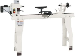 Shop Fox W1758 Wood Lathe With Cast Iron Legs